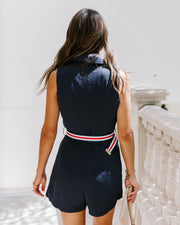 Fleet Week Collared Belted Romper - FINAL SALE