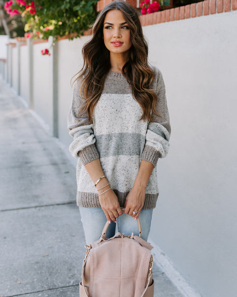 Unplug Speckled Colorblock Sweater - FINAL SALE