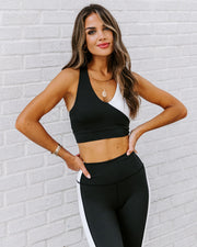 Yin + Yang Sports Bra - Black/White view 11