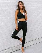 Yin + Yang Legging - Black/White view 5