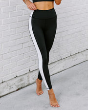 Yin + Yang Legging - Black/White view 6