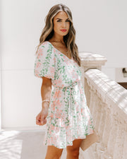 Fiona Floral Swiss Dot Puff Sleeve Dress