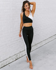 Yin + Yang Sports Bra - Black/White view 3