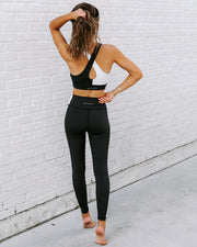 Yin + Yang Legging - Black/White view 2