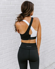Yin + Yang Sports Bra - Black/White view 2