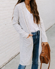 Lynwood Pocketed Speckled Knit Cardigan