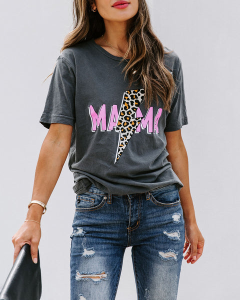 Mama's Got To Bolt Cotton Tee