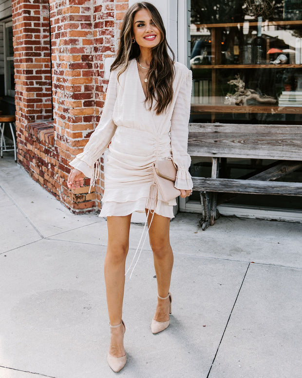 Too Sweet Textured Ruched Dress