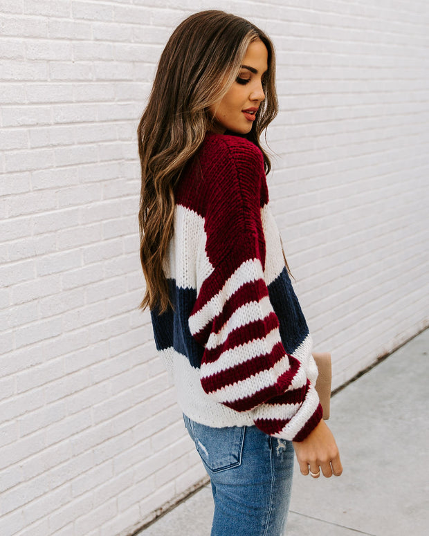 Dozed Off Striped Knit Sweater