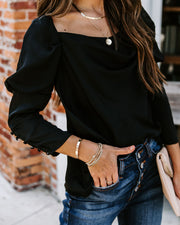 Flawless Puff Sleeve Satin Blouse