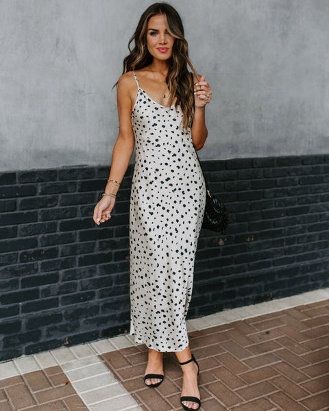 I Found You Printed Midi Slip Dress