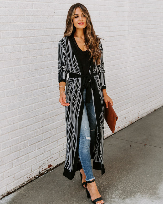 Wouldn't Change A Thing Striped Duster Cardigan