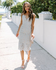 Desra Lace Midi Dress - Sage - FINAL SALE