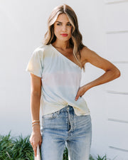 Sunray Soiree Cotton One Shoulder Tee