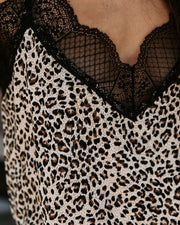 Crosby Leopard Lace Cami Tank