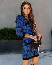 Glad You're Here Puff Sleeve Tweed Dress