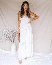 Corinne Tiered Lace Maxi Dress