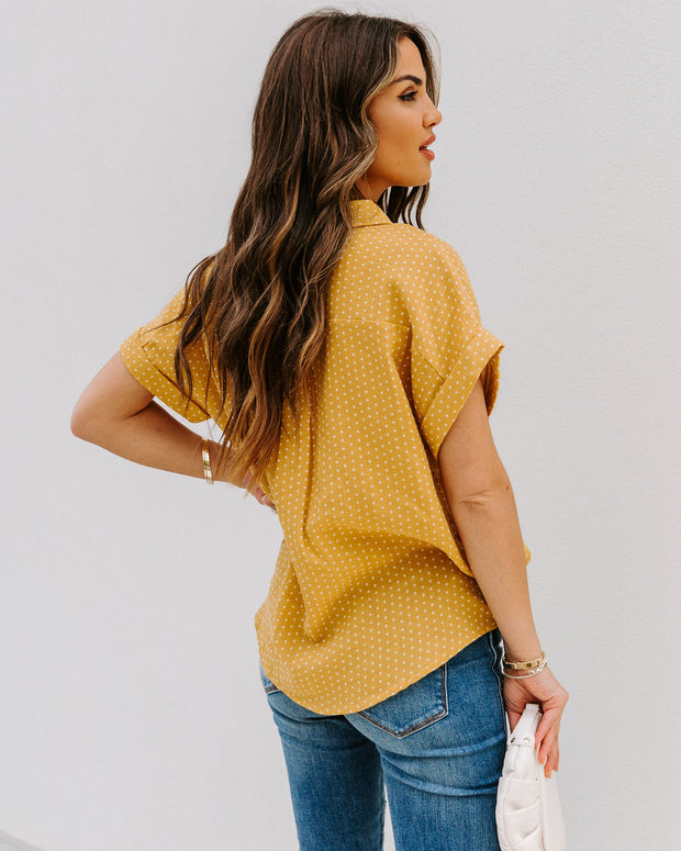 Phineas Cotton Woven Button Down Top - Mustard view 2
