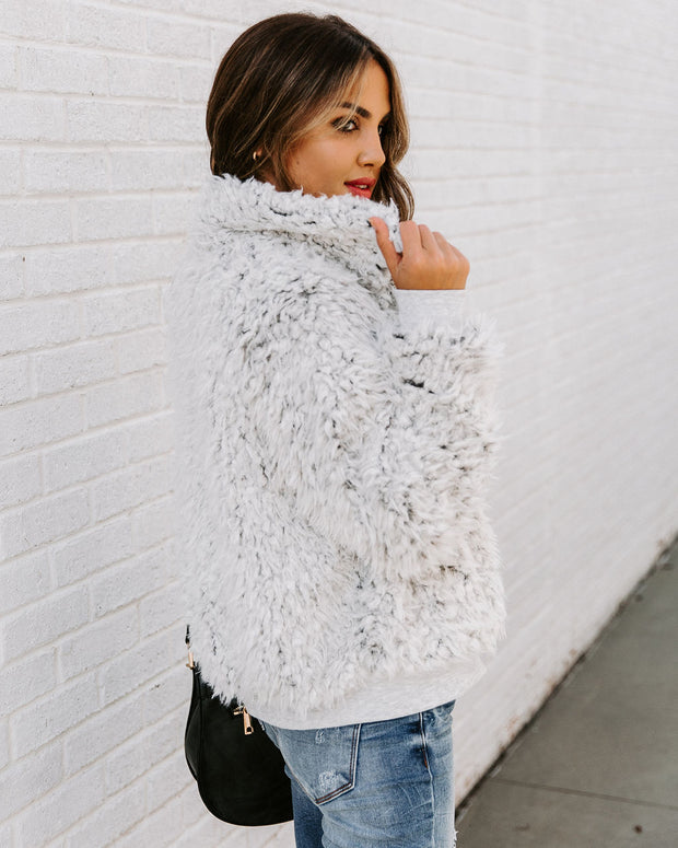 Snow Angel Pocketed Faux Fur Jacket