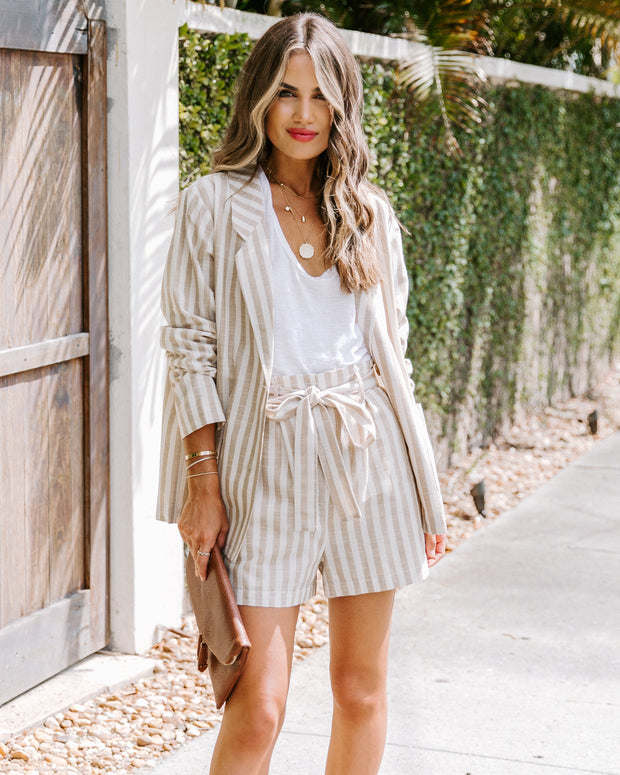 Thousand Palms Cotton Pocketed Striped Shorts - FINAL SALE