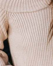 Frontier Cold Shoulder Knit Sweater - Taupe - FINAL SALE view 4