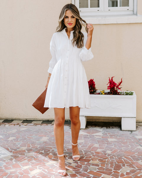Whitewater Collared Button Down Dress