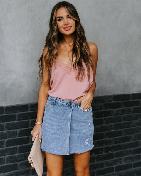 Boulder Denim Wrap Mini Skirt   - FINAL SALE
