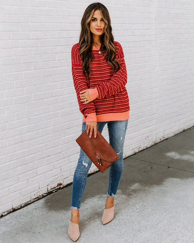 Razz Striped Knit Sweater