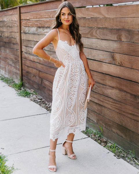 Kennedy Crochet Lace Midi Dress