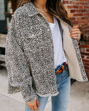 Giles Cotton Frayed Leopard Jacket