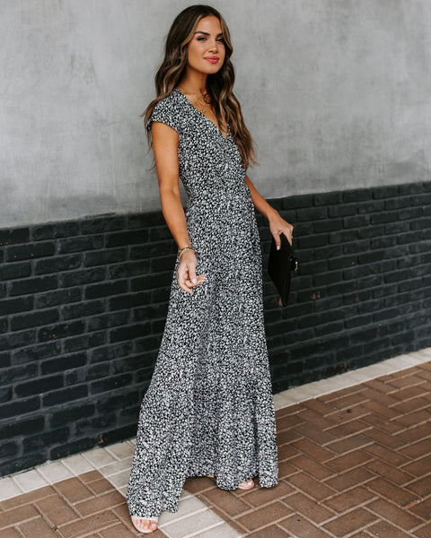 Edmund Floral Wrap Maxi Dress