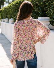 Crazy For Florals Smocked Blouse
