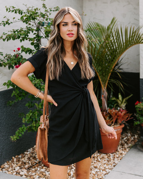 Jayla Wrap Dress - Black