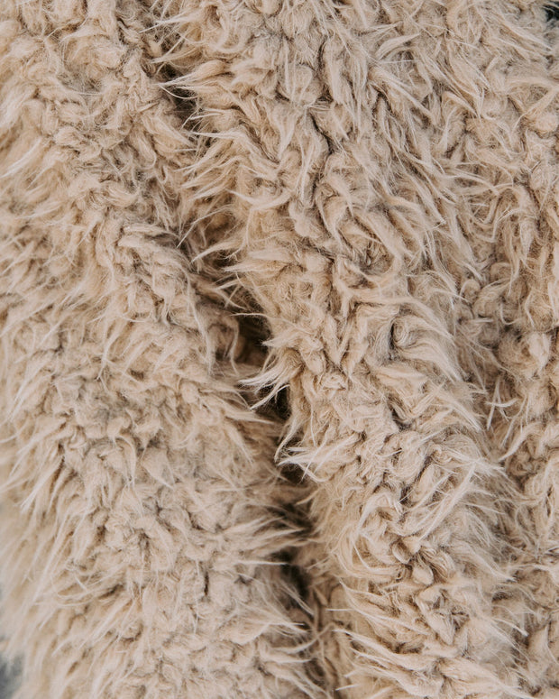 Familiar Feelings Pocketed Faux Fur Jacket - Oatmeal view 4