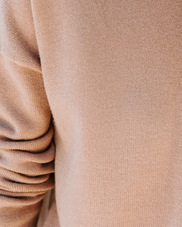Luxuriant Knit Hoodie - Camel