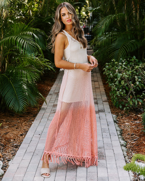 Mind At Ease Ombre Cover-Up Maxi Dress