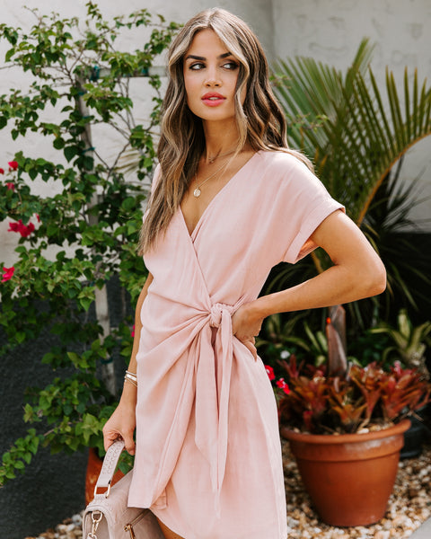 Jayla Wrap Dress - Blush