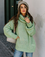 Headstrong Turtleneck Knit Sweater - Sage