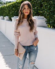 First Love Thermal Knit Top - Blush