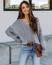 In The Afterglow Cotton Blend Crop Sweater