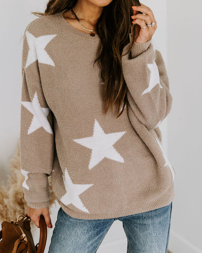 She's A Star Soft Knit Sweater