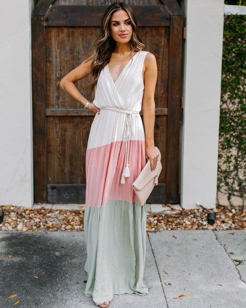 Indio Valley Colorblock Maxi Dress