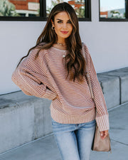 Grover Ribbed Dolman Sweater - Camel