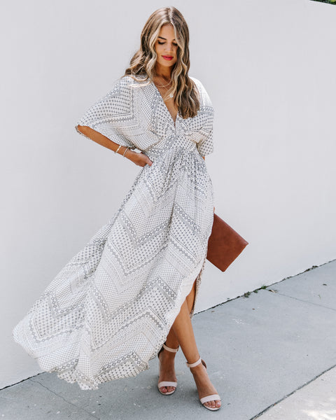 Sloan Pocketed Kimono Maxi Dress