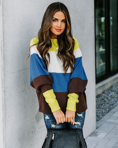 Scrapbook Cotton Blend Colorblock Sweater