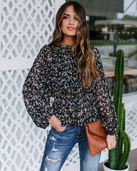 Tried And True Floral Chiffon Blouse