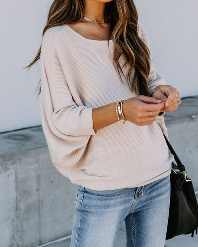 Erin Ribbed Dolman Sweater