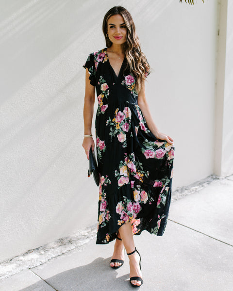 Dwan Floral High Low Maxi Dress