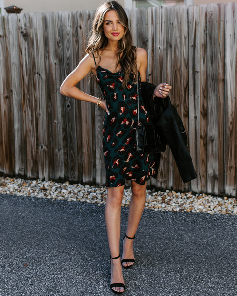 Most Of All Leopard Slip Dress