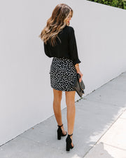 Walk In The Park Printed Wrap Mini Skirt